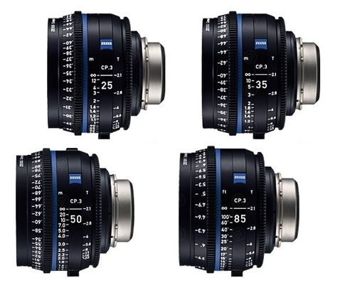 Zeiss CP.3 Highspeed Komplettsatz (25 / 35 / 50 / 85)